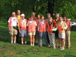 Some of the 45 volunteers who identified, measured and assessed 3800 trees at Ft. Myer