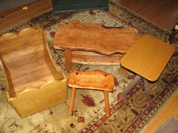 cedar log furniture plans